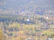 Zbliżenie na Kościół pw Bożego Ciała ( widok z zakrętu Śmierci )