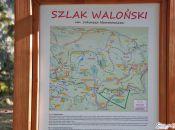 tablica informacyjna przy Zbójeckich Skałach