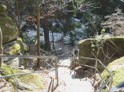 zejście do Wodospadu Szklarki