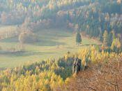 jesienny widok z Krzyżnej Góry
