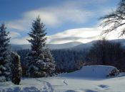 widok na Śnieżkę w Karkonoszach