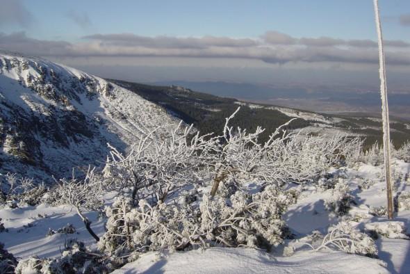 Zimowa panorama z góry.