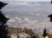 Widok z Grabowca na kotlinę Jelenogórską