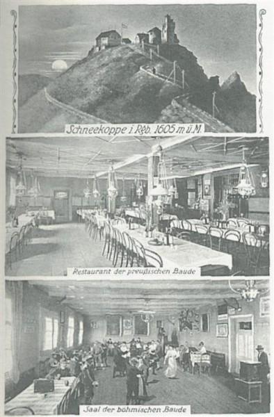 Wnętrze schroniska - 1920 r.