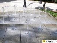 Podświetlana fontanna